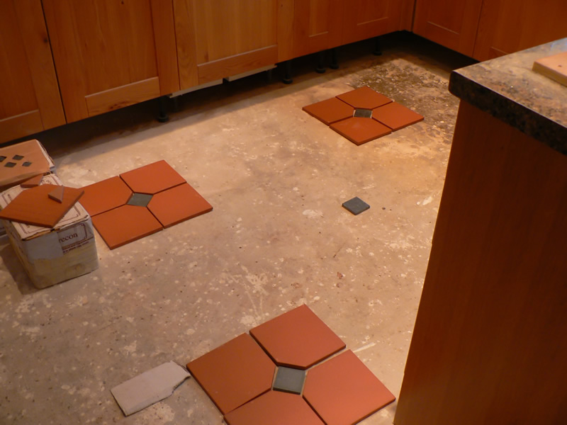 Quarry Tiles, hallway and kitchen floor