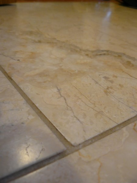 Marble tile living room floor