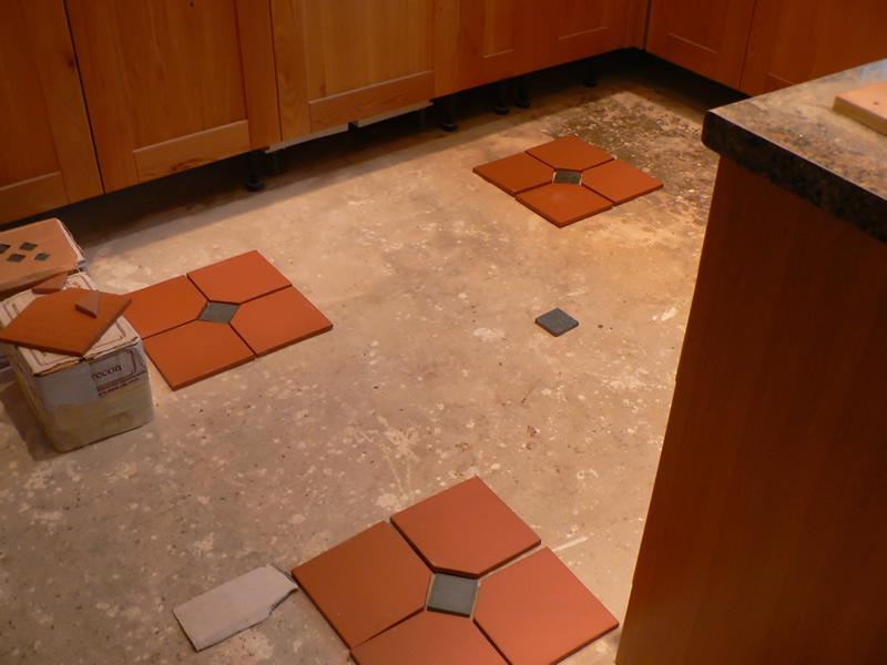 Quarry Tiles, hallway and kitchen floor